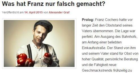 Lesetipp: Was hat Franz nur falsch gemacht? Von Alexander Graf