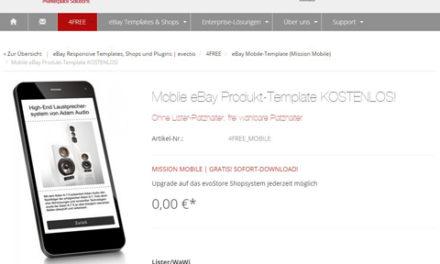 Mobiles Template: evectio® UG stellt kostenloses Template bereit