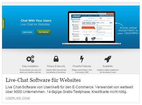 FollowUp: Userlike Live-Chat Erfahrung nach 4 Wochen