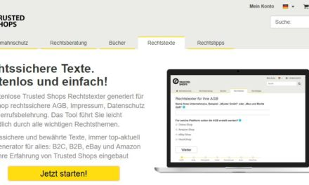 Kostenlose Rechtstexte hier bei Trusted Shops