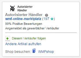 eBay Markenwelt: WMF jetzt mit eigener Markenwelt bei eBay