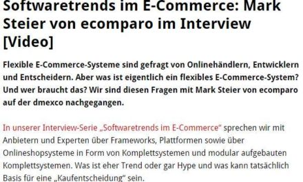 E-Commerce Frameworks, Softwaretrends, ecomparo.de und so