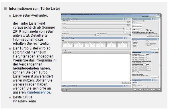 EBay Turbo Lister wird eingestellt – Das Ende einer Ära [UPDATE]