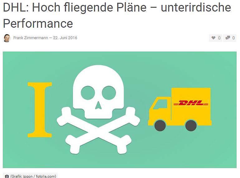 DHL Obertshausen & der arme Onlinehändler [Kommentar]