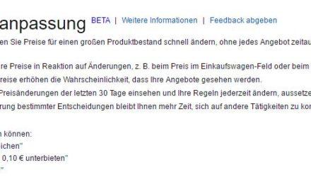 Amazoneigener Repricer ist in _DE als Beta verfügbar