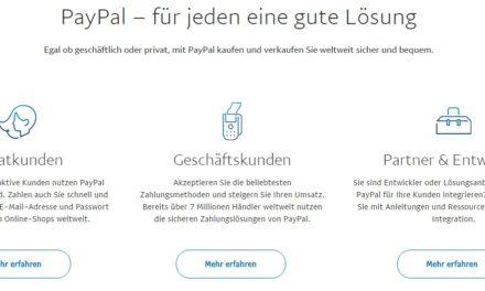 PayPal: Was ist denn da los?
