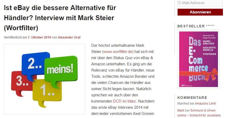 Kassenzone.de: Ist eBay die bessere Alternative für Händler? Interview mit Mark Steier