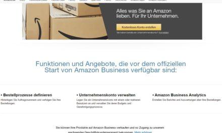 Dass Amazon Business kommt, ist kein Gerücht! Jetzt anmelden!