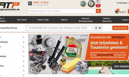 Pressemitteilung: ATP-Webshop in neuem Glanz atp-autoteile.de