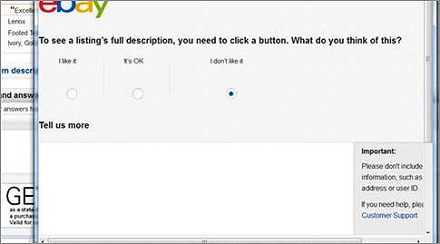 eBay: Angebote bald ohne Beschreibung ?
