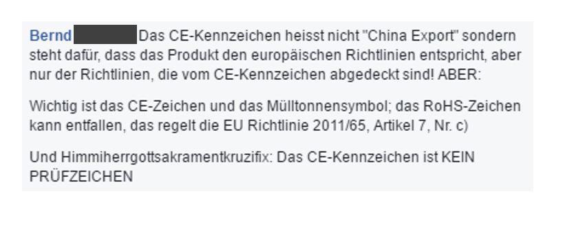 Der CE-Aufkleber: Das China-Export Zeichen