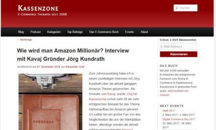 Kassenzone.de: Wie wird man Amazon Millionär? Interview mit Kavaj Gründer Jörg Kundrath