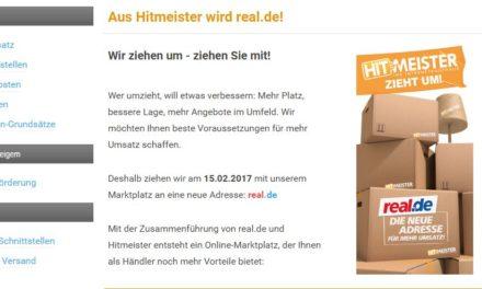 Hitmeister ist tot, es lebe real.de!