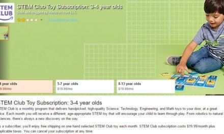 STEM Club: Amazon launcht Programm für pädagogisch wertvolles Spielzeug