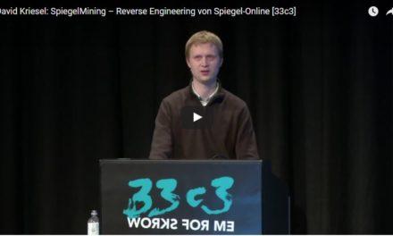 David Kriesel: SpiegelMining – Reverse Engineering von Spiegel-Online [33c3]