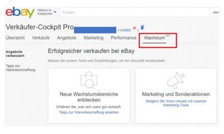 NEU im eBay Verkäufer-Cockpit Pro: Wachstum BETA / Teil I