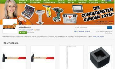 Genau geschaut: Globus Baumarkt startet Click & Collect bei eBay