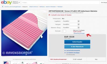 eBay Bewertungen: Test einer neuen Darstellung der Verkäuferbewertungen