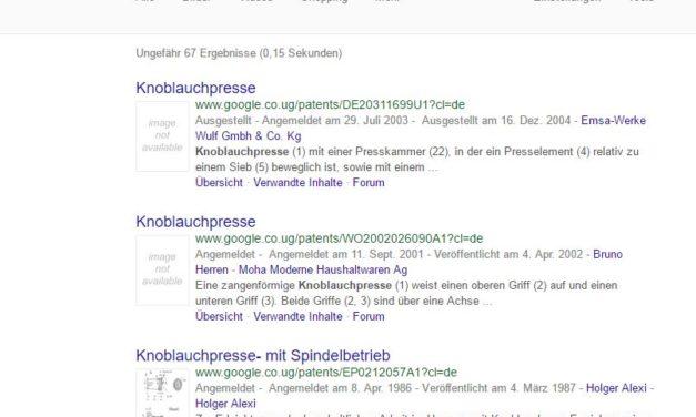 Tipp: Patentsuche mit Google – Wie großartig ist das denn?