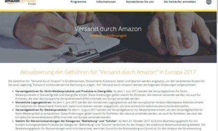 Auch Amazon aktualisiert seine Gebühren:  Versand durch Amazon wird teurer