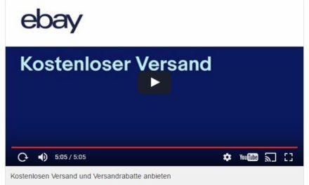 eBay Video: Kostenlosen Versand und Versandrabatte anbieten