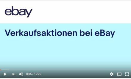 eBay Video: Verkaufsaktionen bei eBay