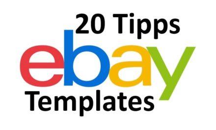 20 Tipps: Wie finde ich krasse eBay-Template? [Update]