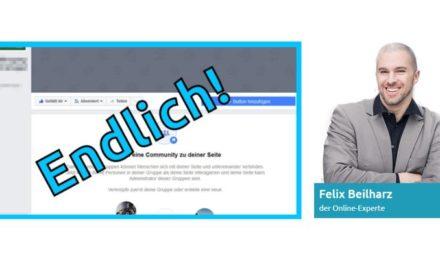 Von Felix Beilharz: Facebook-Seiten als Gruppen-Admins, ein Test?