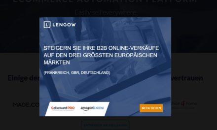 Pressemitteilung: Lengow startet auf dem B2B Markt mit Amazon Business und CdiscountPro
