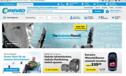 Neuer Marktplatz: Conrad Marketplace – Conrad Business Supplies
