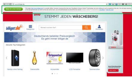 ZZb00t: erfolgreiche DDoS-Attacke auf billiger.de trotz Cloudflare