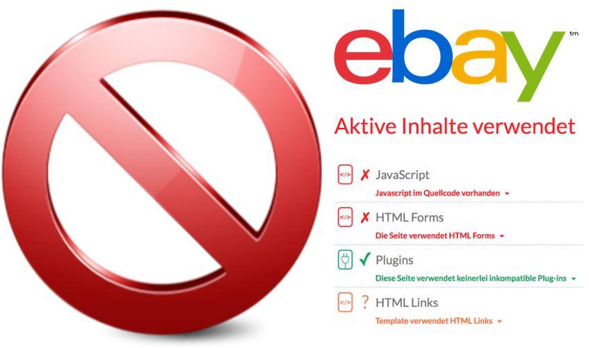 Reminder: eBay – aktive Inhalte & mobile Optimierung