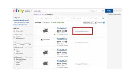 News: eBay bietet ab sofort Lieferung an DHL Abholorte
