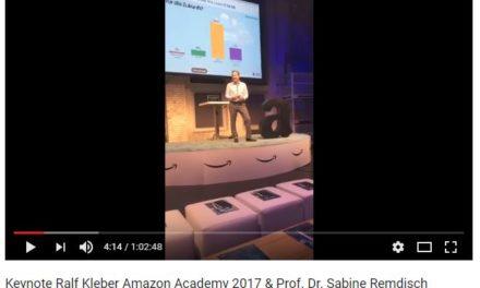 Keynote Ralf Kleber Amazon Academy 2017 & Prof. Dr. Sabine Remdisch