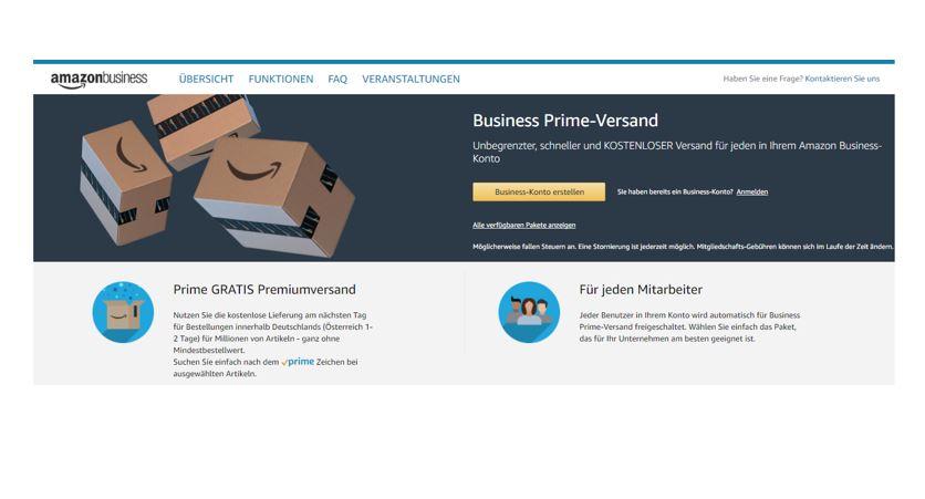 Amazon Business startet Business Prime-Versand