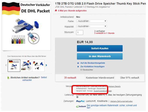 Ebay verkaufen amazon lieferung