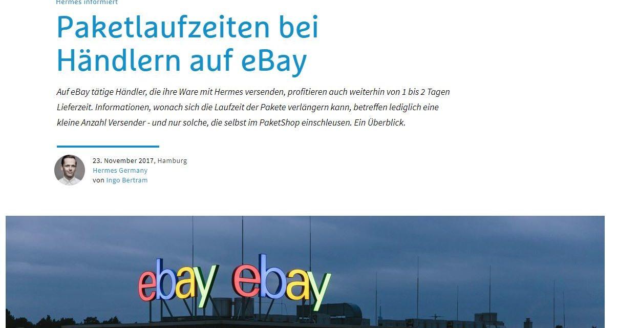 Hermes Pressemitteilung verwirrt eBay Händler