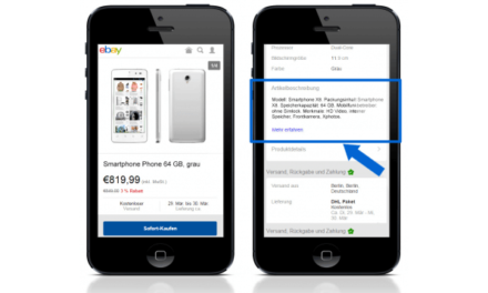 eBay Bug behoben: Mobile Kurzbeschreibung wird wieder angezeigt