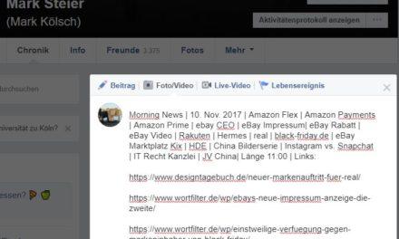 Morning News | 10. Nov. 2017 | Amazon Flex | Amazon Payments…