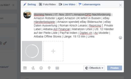 Morning News | 17. Nov. 2017 | Amazon/DPD Nachforderung …