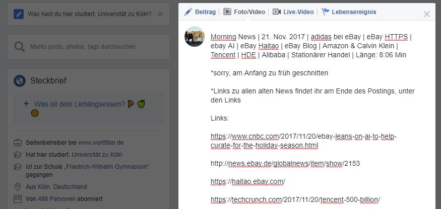 Morning News | 21. Nov. 2017 | adidas bei eBay | eBay HTTPS