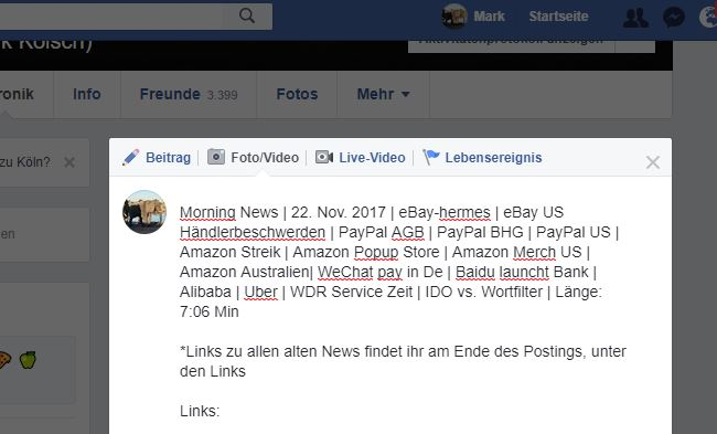 Morning News | 22. Nov. 2017 | eBay-Hermes | eBay US Händlerbeschwerden