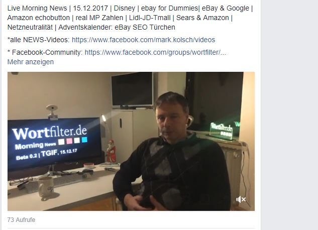 Live Morning News | 15.12.2017 | Disney | ebay for Dummies …