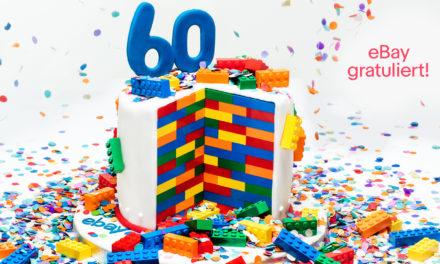 60 Jahre LEGO Steine: eBay gratuliert mit einer Extrawurst