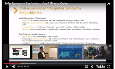 Amazon #UdZ2 Training: Von Offline zu Online