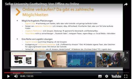 Amazon #UdZ2 Training: Von Offline zu Online