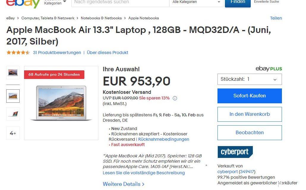 eBays neue Produktdetailseite einmal unter die Lupe genommen