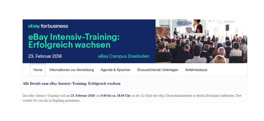 ebay for business: eBay Intensiv-Training: Erfolgreich wachsen