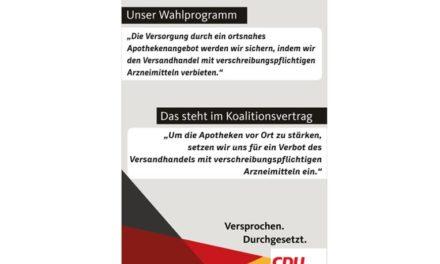 Die Deppenbande von der CDU: Verbot von Versandapotheken