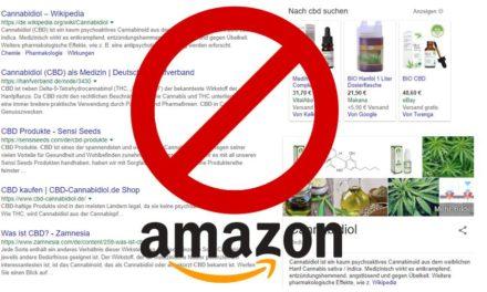 Amazon Verbot: CBD Produkte